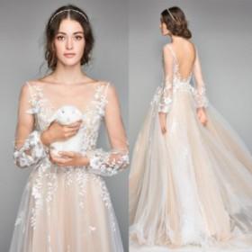 チュールを重ねて華やかに 刺繍を散りばめ洗練をプラス ホワイト ウェディングドレス 結婚式 パーティー 披露宴 N256