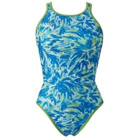 ミズノ(MIZUNO) レディース 競泳水着 エクサースーツ ミディアムカット ブルー N2MA9287 27 練習用 女性用競泳水着 トレーニング 水着 スイムウェア