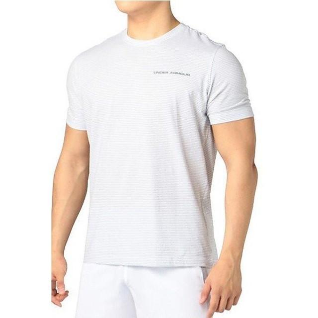 (セール)UNDER ARMOUR(アンダーアーマー)メンズスポーツウェア 半袖機能Tシャツ UA CHARGED COTTON SS T MTR3181 メンズ WHT/GPH