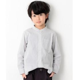 [マルイ]【セール】子供服 ブラウス キッズ 韓国子供服 スタンドカラー長袖シャツ 長そで 男の子 女の子 トップス/デビロック(devirock)