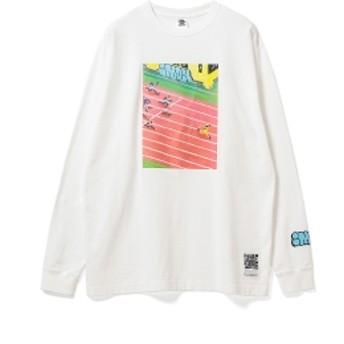 BlackEyePatch / stacks IMON Long Sleeve Tee メンズ Tシャツ WHITE S