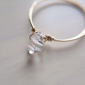 【受注製作】両剣水晶の指輪