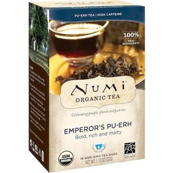 オーガニックティー、プーアル茶、皇帝のプーアル茶、ティーバッグ16袋、1.13 oz (32 g)