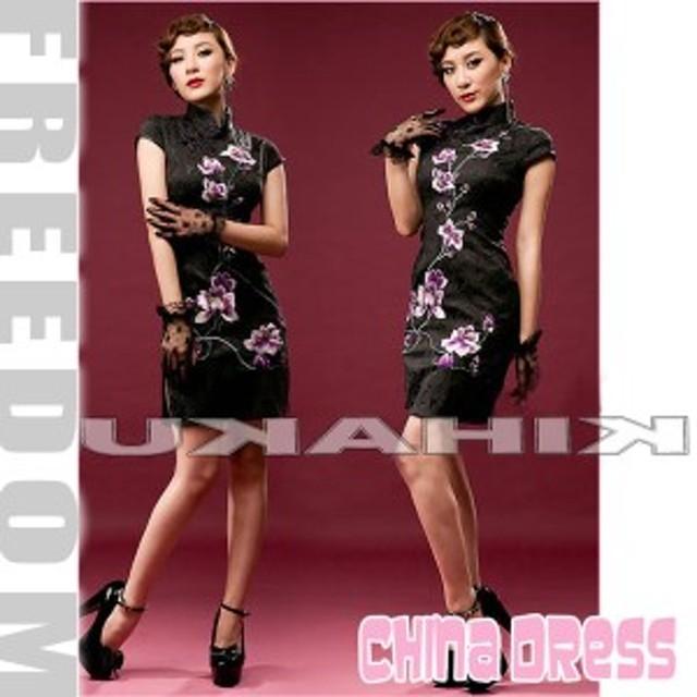 c76949a0d548e セール コスプレ衣装 ドレス キャバドレス パーティー 結婚式☆花刺繍とサイドスリットの