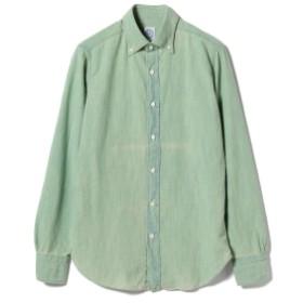 BOLZONELLA / デニム オーバーダイ ボタンダウンシャツ メンズ カジュアルシャツ GREEN/1 42