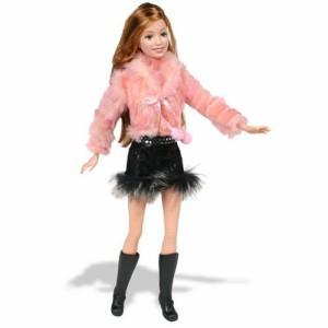 バービーJ1413 Fur ピンク Jacket Barbie Fashion Fever Doll 通販