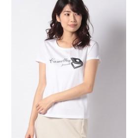 MADAM JOCONDE マダム ジョコンダ コットンジャージプリント ビジューTシャツ