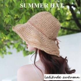 帽子 麦わら帽子 折りたたみ 登山 ギフト ストローハット かわいい 夏 つば広 日よけ ハット 小顔効果 紫外線対策 旅行 UVカット UVカッ