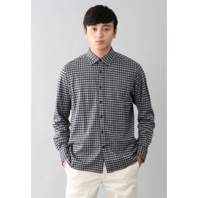 MACKINTOSH PHILOSOPHY ニットネルチェック セミワイドカラーシャツ シャツ・ブラウス,ネイビーシェパード