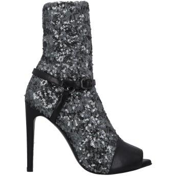 《セール開催中》WO MILANO レディース ショートブーツ ブラック 36 革 / 紡績繊維