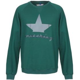 《期間限定セール開催中!》MACCHIA J メンズ スウェットシャツ グリーン L コットン 100%