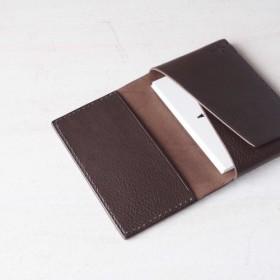 【受注生産】Italian leather Business Card Case/choco
