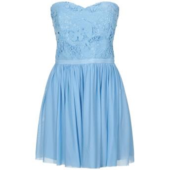 《セール開催中》SOANI レディース ミニワンピース&ドレス アジュールブルー 44 ポリエステル 100%