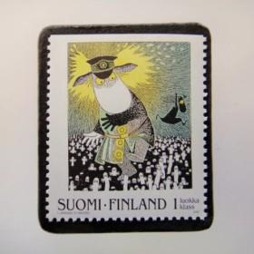 フィンランド 童話切手ブローチ4681