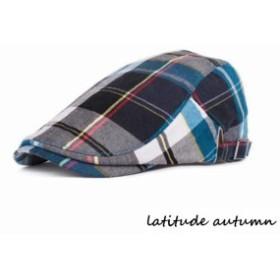 帽子 綿 メンズ ベルト式 ハンチング コーディネート チェック柄 おしゃれ サイズ調節 タータン スタイリッシュ