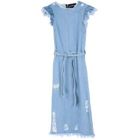 《セール開催中》MARCO BOLOGNA レディース 7分丈ワンピース・ドレス ブルー 42 コットン 100%