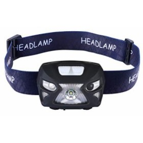 【 LEDヘッドライト】USB充電 センサーヘッドライト 赤警告ライト コンパクト IPX6防水【夜釣り/ハイキング/キャンプ/防災/登山/非