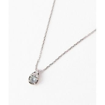 VENDOME AOYAMA ヴァンドーム青山 ブルー トリクル ダイヤモンド K10ホワイトゴールドネックレス AJBN149440AQ