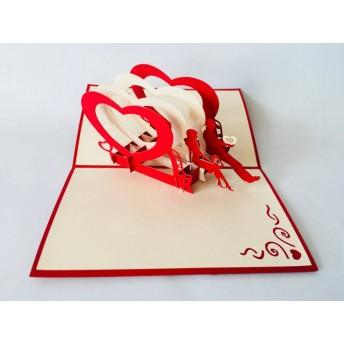 VALENTINE COLLECTION 期間限定!手作り切り紙ポップアップカード ハッピーバレンタイン