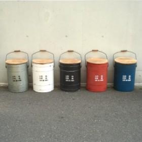 隠せる、座れる便利なドラム缶風ボックススツール タブレビドン・ボックススツール