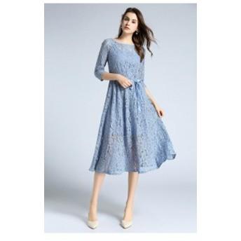 パーティードレス ワンピースドレス 結婚式 お呼ばれ ワンピ お呼ばれドレス パーティワンピ 二次会 袖あり20代 30代 ブラック A023