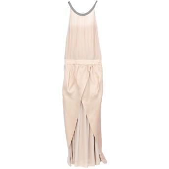 《セール開催中》BRUNELLO CUCINELLI レディース ロングワンピース&ドレス ベージュ M シルク 100%
