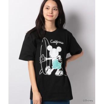 Disney ミッキーサーフプリントTシャツ
