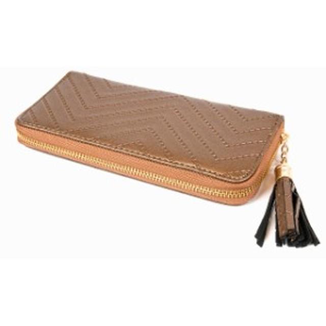 e3971a4c2a02 長財布 レディース 大容量 フリンジ付き ラウンドファスナー 携帯も入る ...