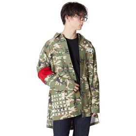 シャツ - improves ビッグシルエット シャツ メンズ レディース 長袖 迷彩 迷彩柄 カモフラ カーキ オーバーサイズ 長袖シャツ おしゃれミリタリーシャツ ビッグサイズ ビッグシャツ ストリート系 ストリートファッション スケーター アメカジ メンズファッションインプ