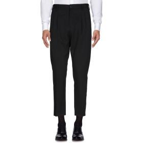 《セール開催中》AGLINI メンズ パンツ ブラック 52 バージンウール 50% / コットン 48% / ポリウレタン 2%