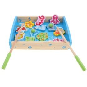15ピース幼児木製磁気番号釣りゲームおもちゃ箱セットプレイ活動