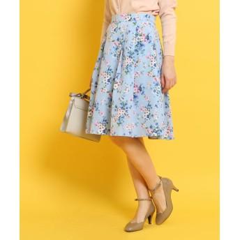 ひざ丈スカート - Couture brooch 【WEB限定サイズ(S・LL)あり】グログランフラワースカート