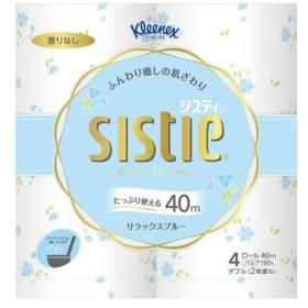 クリネックスシスティ リラックスブルー ダブル 4ロール  10パック入り(SH)【ケース販売】