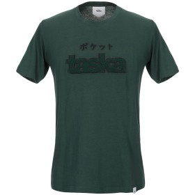 《期間限定セール開催中!》TASKA メンズ T シャツ ダークグリーン S コットン 100%