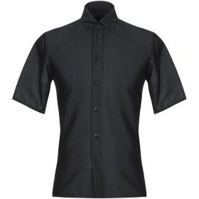 《期間限定 セール開催中》EMPORIO ARMANI メンズ シャツ ブラック 38 ポリエステル 54% / コットン 39% / ナイロン 6% / ポリウレタン 1%