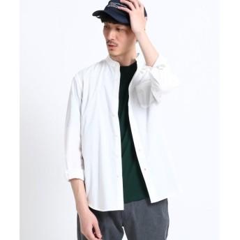 【50%OFF】 ザ ショップ ティーケー タイプライターバンドカラーシャツ メンズ オフホワイト(003) 03(L) 【THE SHOP TK】 【セール開催中】