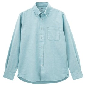 【10%OFF】 マックハウス Navy オックスフォードシャツ BGE127 メンズ ブルー XXL 【MAC HOUSE】 【セール開催中】