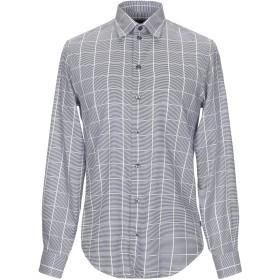 《期間限定 セール開催中》ARMANI COLLEZIONI メンズ シャツ ブルー M コットン 100%