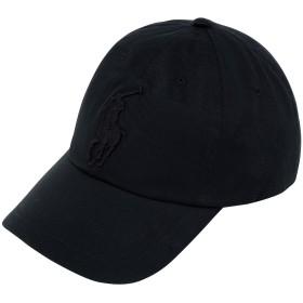 《期間限定セール開催中!》POLO RALPH LAUREN メンズ 帽子 ブラック コットン 100% Cotton Chino Cap
