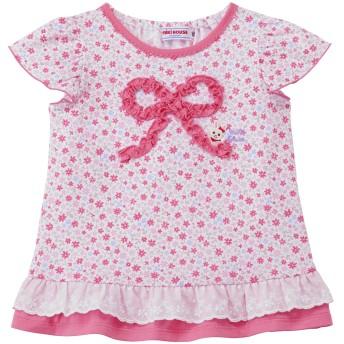 ミキハウス うさこ 小花柄半袖Tシャツ ピンク