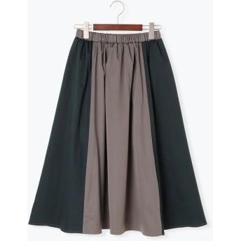 ひざ丈スカート - Te chichi 切替配色スカート