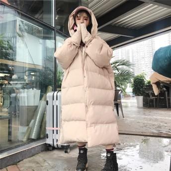 【秋冬新品発売】韓国ファッション/大人気/CHIC気質/ゆったりする/ロングセクション/暖かい/厚手/綿入れダウンコート/コート