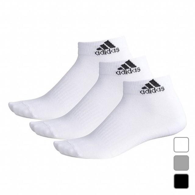 アディダス ソックス BASIC 3P ショートソックス (BR6132) 3足組 靴下 adidas
