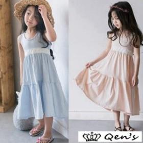 子供服 女の子 ワンピースドレス おしゃれ 韓国 お出かけ 子供服 ジャンパー 超可愛い 女の子 マキシ丈 デニム キッズ サロペット ロング