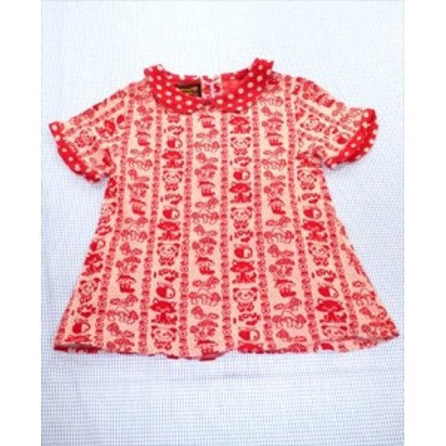 2f75c04585fe5 グラグラ GRAND GROUND Tシャツ 半袖 140cm 白系 くま パンダ ドット キノコ トップス ジュニア 女の子 子供