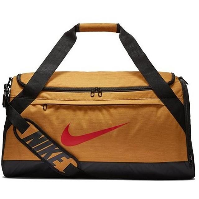ナイキ(NIKE) バッグ ブラジリア ダッフル Mサイズ ウィート/ブラック/ミスティックレッド BA5977 790 スポーツバッグ ボストンバッグ かばん カバン 鞄 部活