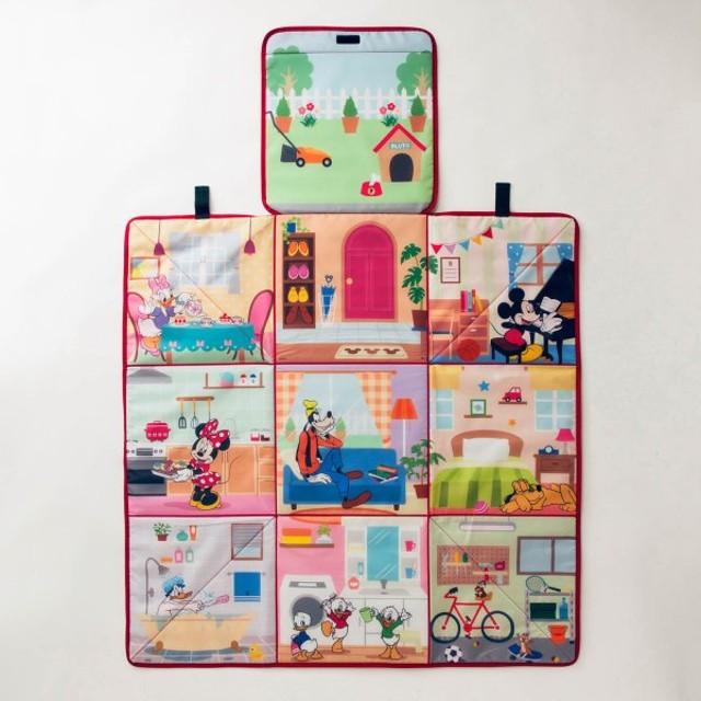 おもちゃ 絵本収納 ディズニー 広げて遊べる収納ボックス