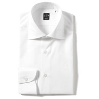 BEAMS F / ファインツイル ワイドカラーシャツ メンズ ドレスシャツ WHITE/1W 41