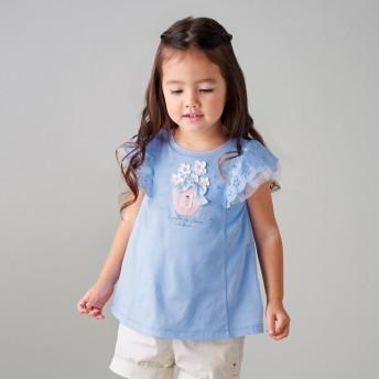 ミキハウス リーナちゃん パフューム半袖Tシャツ ブルー