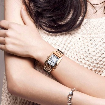時計 - OVER RAG レディースウォッチ レディース 時計 レディーススクエアステンレスウォッチ 腕時計 ブレスレット カジュアル時計 レディース時計 ビジネス時計 エレガンス ブレスレット 仕事 30m防水